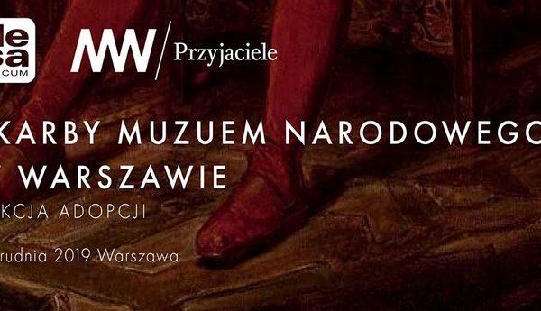 """Aukcja adopcji """"Skarbów Muzeum Narodowego w Warszawie"""" – 2 grudnia 2019"""