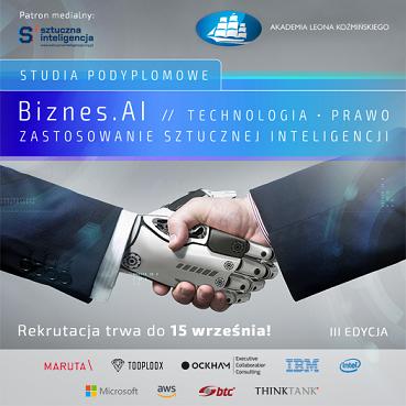 Studia podyplomowe Biznes.AI: Technologia, Prawo, Zastosowanie Sztucznej Inteligencji