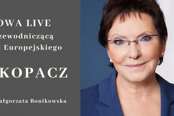 Rozmowa LIVE z Ewą Kopacz
