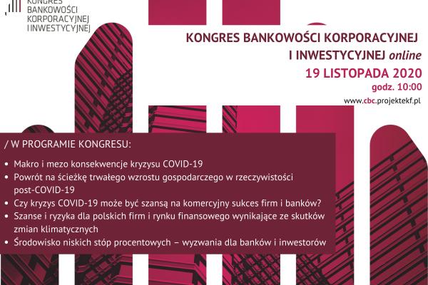 Relacja z Kongresu Bankowości Korporacyjnej i Inwestycyjnej online