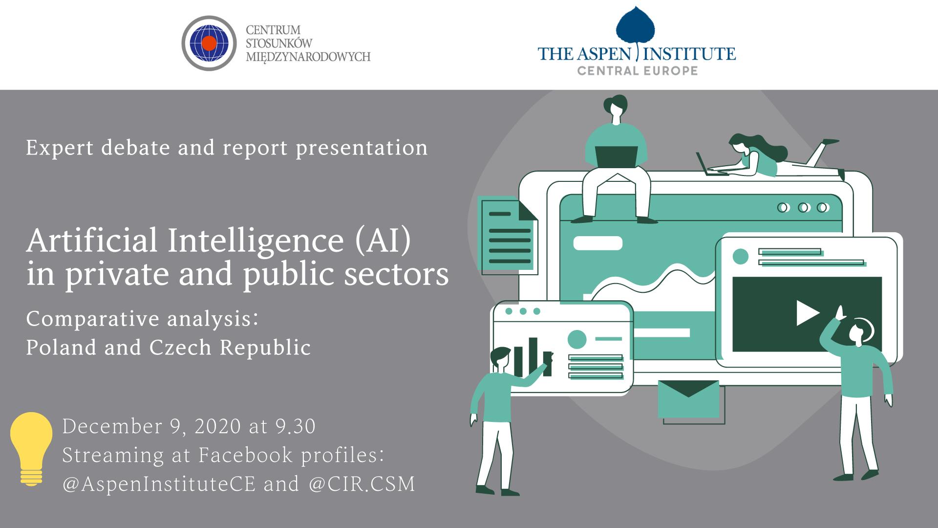 Debata i premiera raportu: Sztuczna inteligencja w sektorach publicznym i prywatnym w Polsce i w Czechach